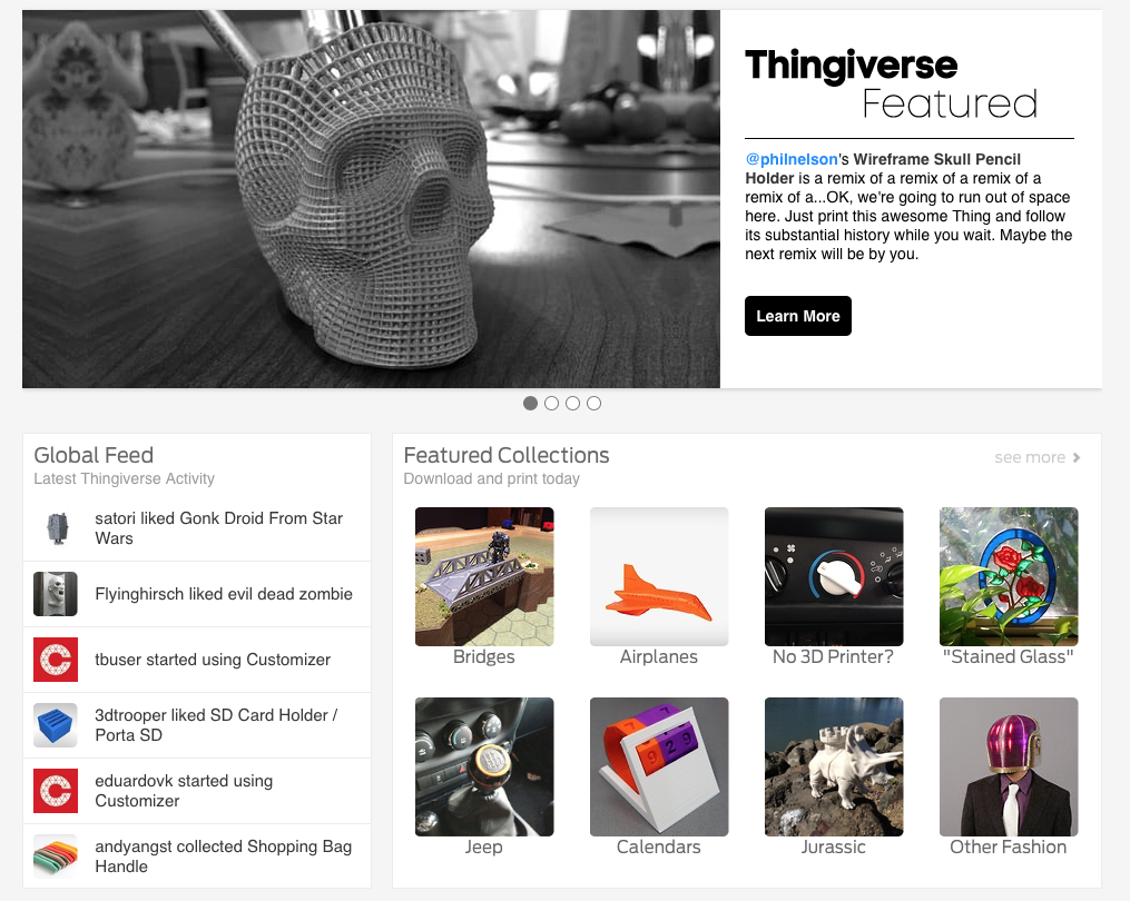 Featured on Thingiverse